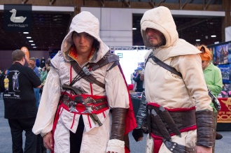 Assassin's Creed cosplay by Chris Webb and Charlotte.