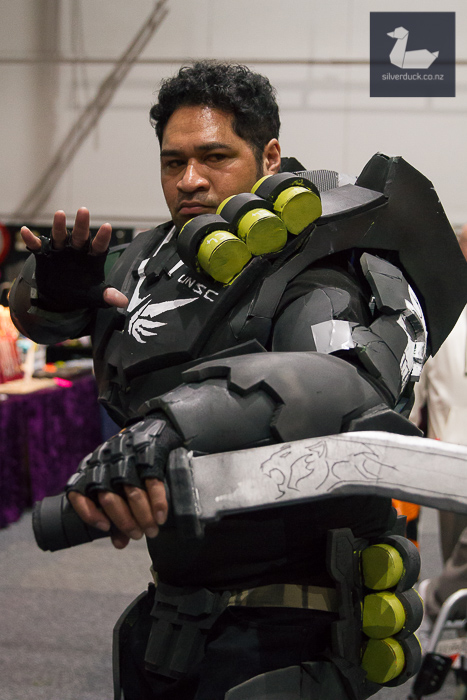 HALO Spartan cosplay by Joseph Maugaotega.