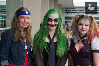 Captain America by Natasja Morris, Joker by Kirsty Bayne & Harley Quinn by Cassy Batt.