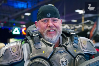 Marcus Fenix, Gears of Wars cosplay by Wayne Carroll.