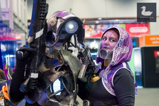Legion & Tali, Mass Effect Cosplay by Multiversal Cosplay & BobbyPins.