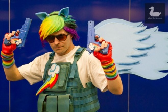 Rainbow Dash (My Little Pony: Friendship is Magic) cosplay by Dion Sanford.