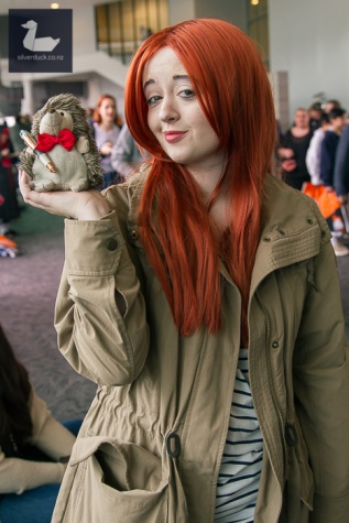 Amy Pond, Dr Who cosplay by Jellicle Cosplay. Auckland Armageddon Expo 2017. Day 4. Photo by Silver Duck.