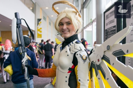 Mercy, Overwatch cosplay by Cayley Davidson-Rowell.
