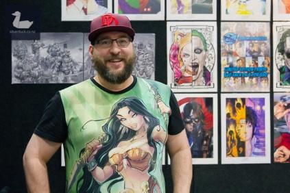 Shaun Paulet at Comics2Movies booth.