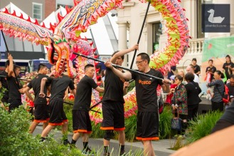 Chinese New Year lantern festival, Cuba Street, Wellington, New Zealand. Photo by Silver Duck.