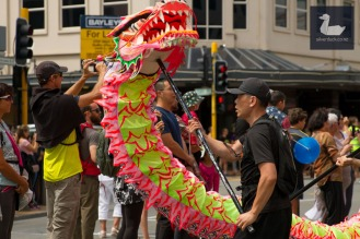 Chinese New Year 2018 parade, Courtenay Place, Wellington. Photo by Silver Duck.