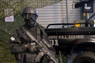Zombie Response Unit, supporting Child Cancer Foundation. Wellington Armageddon Expo 2018. Photo by Silver Duck.