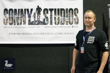 Paul Jason Young, Sonny Studios. Wellington Armageddon Expo 2018. Photo by Silver Duck.