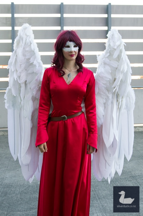 Lady Cardinal by Ravenheart Cosplay. Wellington Armageddon Expo 2018. Photo by Silver Duck.