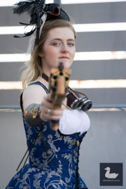 Steampunk cosplay by Chameleon Costume. Wellington Armageddon Expo 2018. Photo by Silver Duck.