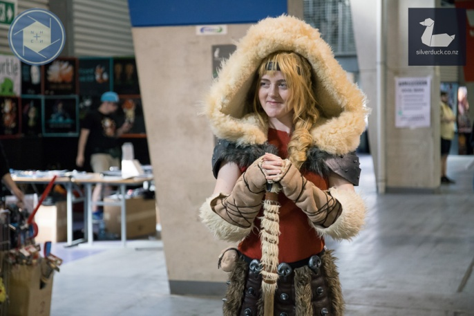 Astrid Cosplay by Chameleon Costume. Wellington Armageddon Expo 2018. Photo by Marlena Wasiak for No Hands No Excuses, for Silver Duck.