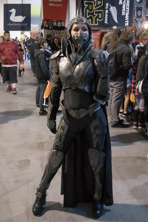 Faora-Ul cosplay by Alea Workshop. Armageddon Expo Wellington 2018. Photo by Silver Duck.