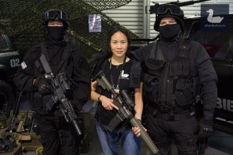 Ditha and the Zombie Response Unit. Wellington Armageddon Expo 2018. Photo by Silver Duck.