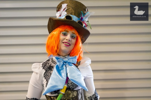 Mad Hatter cosplay by Julz Burgisser. Wellington Armageddon Expo 2018. Photo by Silver Duck.