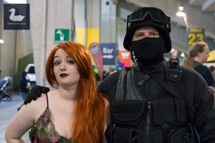 Poison Ivy by Jellicle Cosplay and Zombie Response Unit (Shayne Parry). Wellington Armageddon Expo 2018. Photo by Silver Duck.