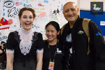Kat, Ditha and Epu. Wellington Armageddon Expo 2018. Photo by Silver Duck.