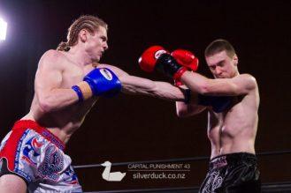 Capital Punishment 43 fight 1. Rueben Jenson (Wellington Thaiboxing) vs Ethan Carter (MAI Dojo). Copyright © 2018 Silver Duck. All Rights Reserved.
