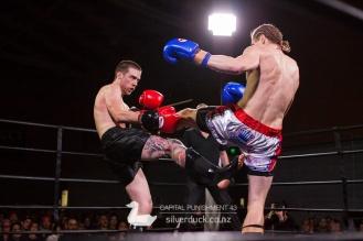 Capital Punishment 43 fight 1. Rueben Jenson (Wellington Thaiboxing) vs Ethan Carter (MAI Dojo). Copyright © 2017 Silver Duck. All Rights Reserved.
