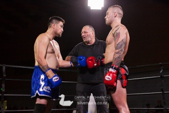 Capital Punishment 43 fight 4. Jabe Tyler (CFC/Universal Vale Tudo) vs Ben Molesi (Fortitude Masterton). Copyright © 2017 Silver Duck. All Rights Reserved.
