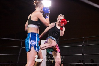 Capital Punishment 43 fight 4. Kate O'Neill (Proactive Christchurch) vs Rosie Sandiford (MTI Wellington). Copyright © 2017 Silver Duck. All Rights Reserved.