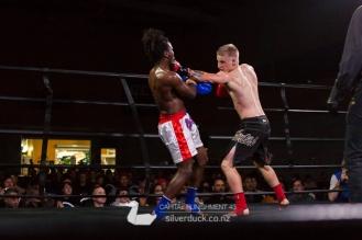 Capital Punishment 43 fight 12. Shiloh Jenkins (Scorpion Thaiboxing) vs Patrick Nkunda (MAI Dojo). Copyright © 2018 Silver Duck. All Rights Reserved.