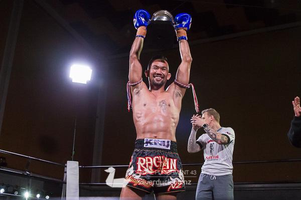 Capital Punishment 43 fight 13. Nikora Lee Kingi (South Island Lee Gar) vs Kru Chain (Ra Chain Muay Thai). Copyright © 2018 Silver Duck. All Rights Reserved.