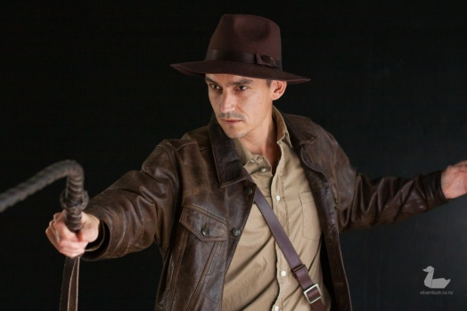 Indiana Jones cosplay by Matt Reading (Wellington Iron Man). Men at Photonflux Shoot. Copyright © 2018 Silver Duck. All Rights Reserved.