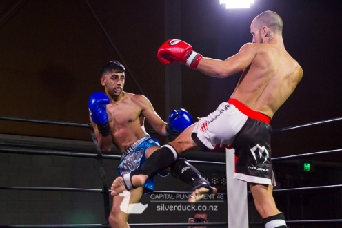 Capital Punishment 46. Fight 2 - Chris Peachy (Undisputed MMA) vs Praveen Varghese (MTI Wellington). Copyright © 2019 Silver Duck. All Rights Reserved.