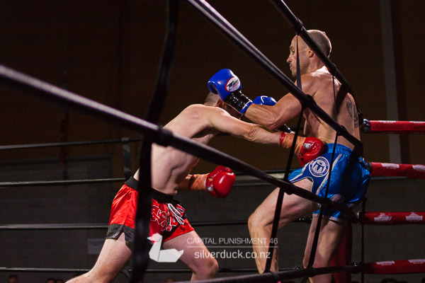 Capital Punishment 46. Fight 5 - Adam Peatie (Fight Science Queenstown) vs Low Low (MTI Wellington). Copyright © 2019 Silver Duck. All Rights Reserved.