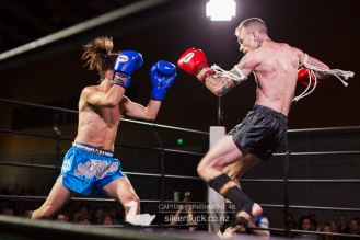Capital Punishment 46. Fight 1 - Jordan Langley (He Toa Petone) vs Ling Ling (MTI Wellington). Copyright © 2019 Silver Duck. All Rights Reserved.