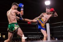 Capital Punishment 46. Fight 11 - Dan Robertson (Kapiti Thai Boxing) vs Ajay Al Saeed (Kru Chain Muay Thai). Copyright © 2019 Silver Duck. All Rights Reserved.