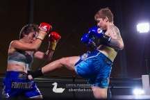"""Capital Punishment 46. Fight 12 - Jade Fleetwood (The Fortitude Gym) vs Rosie """"Spicy"""" Sandiford (MTI Wellington). Copyright © 2019 Silver Duck. All Rights Reserved."""