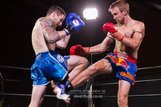 Capital Punishment 46. Fight 15 - Luke Vivian (Christchurch Muay Thai) vs Zen Neethling (MTI Wellington). Copyright © 2019 Silver Duck. All Rights Reserved.