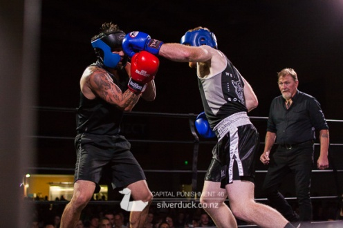 Capital Punishment 46. Fight 13 - Monty Haenga (10 Count Boxing) vs Chris Owen (Wellington Boxing Gym). Copyright © 2019 Silver Duck. All Rights Reserved.