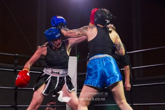 Capital Punishment 46. Fight 9 - Tania Barnett (The Fight Shop) vs Talei Aldiss (MTI Wellington). Copyright © 2019 Silver Duck. All Rights Reserved.