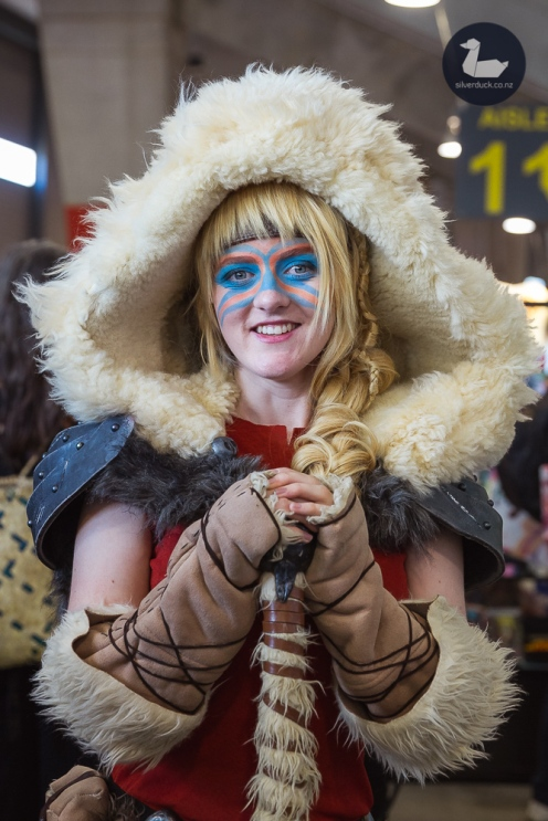 Astrid (How to Train Your Dragon) cosplay by Chameleon Costume. Wellington Armageddon Expo 2019. Day 1. Copyright © 2019 Silver Duck. All Rights Reserved.