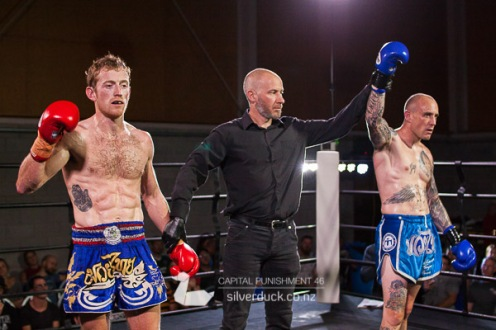 Capital Punishment 46. Fight 10 - Marc Solan (Fight Science Queenstown) vs Dean Karu (MTI Wellington). Copyright © 2019 Silver Duck. All Rights Reserved.
