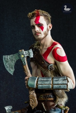 Teenage Kratos (God of War) cosplay by James Searle. Wellington Armageddon Expo 2019. Day 1. Copyright © 2019 Silver Duck. All Rights Reserved.