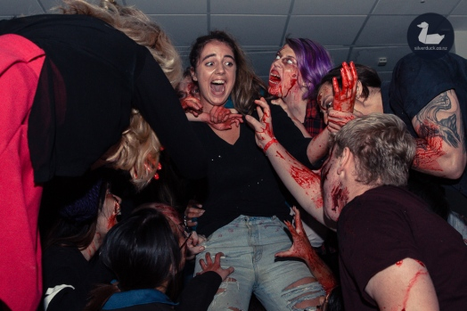 Zombie Alley. Wellington Armageddon Expo 2019. Day 3. Copyright © 2019 Silver Duck. All Rights Reserved.
