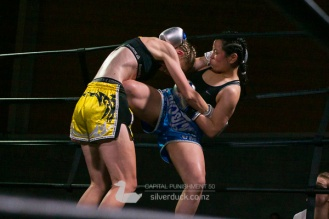 Kate O'Neill (Proactive Chch) vs Vivian Arora (MTI Wellington). Capital Punishment 50, Wellington, NZ. Copyright © 2019 Silver Duck. All Rights Reserved.