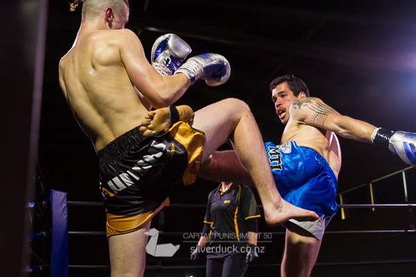 Cameron Clatworthy (Undisputed MMA) vs Phil Luke (MTI Wellington). Capital Punishment 50, Wellington, NZ. Copyright © 2019 Silver Duck. All Rights Reserved.