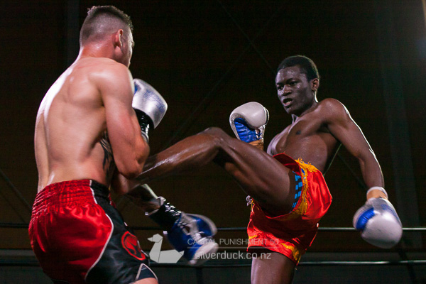 Hendrick Mutale (The Fight Shop) vs Corey Dunn (Scorpion Thaiboxing). Capital Punishment 50, Wellington, NZ. Copyright © 2019 Silver Duck. All Rights Reserved.